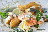 Fotografie Roast salmon - fish