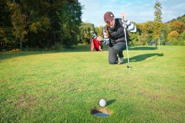 The final blow at golf tournament