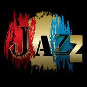 Slovo jazz izolovaných na černou