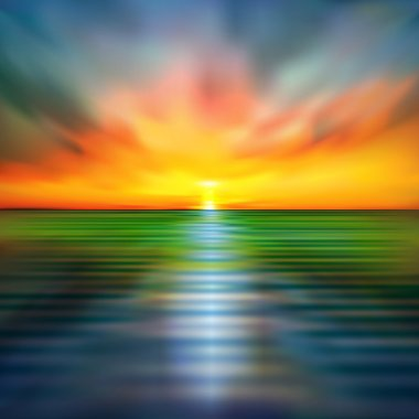 abstract spring background with sea sunset