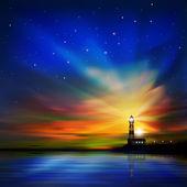 Fotografie abstrakt mit Silhouette der Leuchtturm