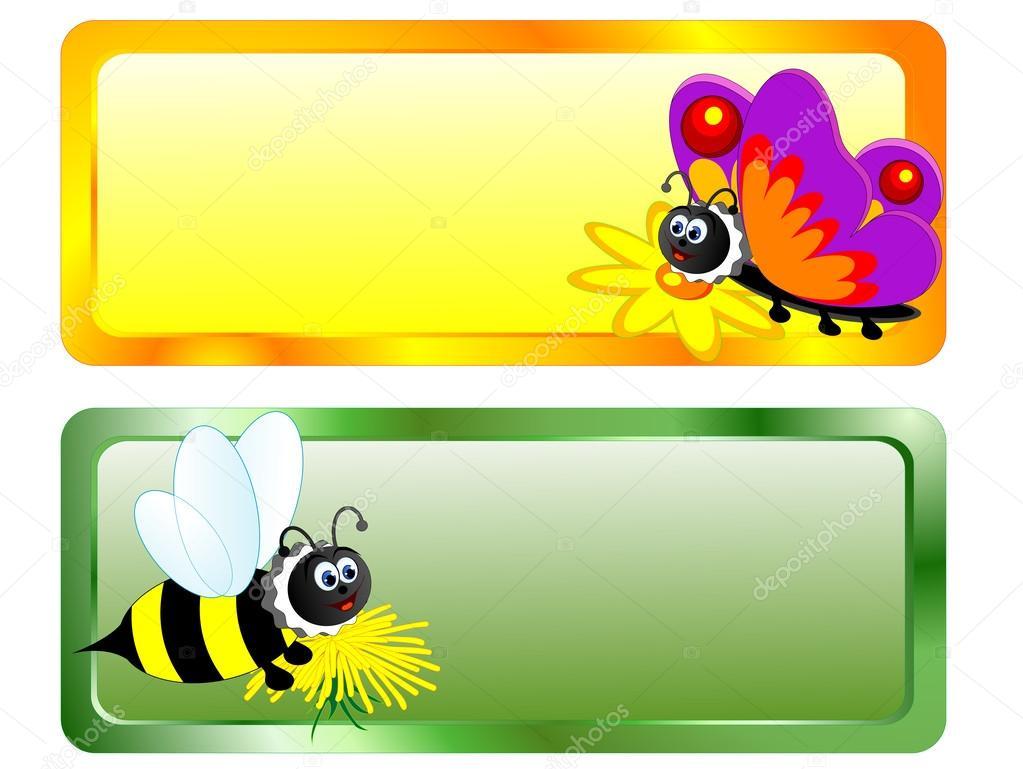 Dibujos: Abejas Y Mariposas