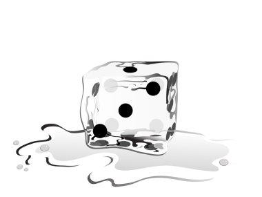 Ice cube as a dice