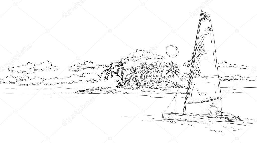 Vecteurs Pour Catamaran Illustrations Libres De Droits Pour Catamaran Depositphotos
