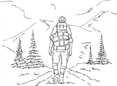 hiker on the trip