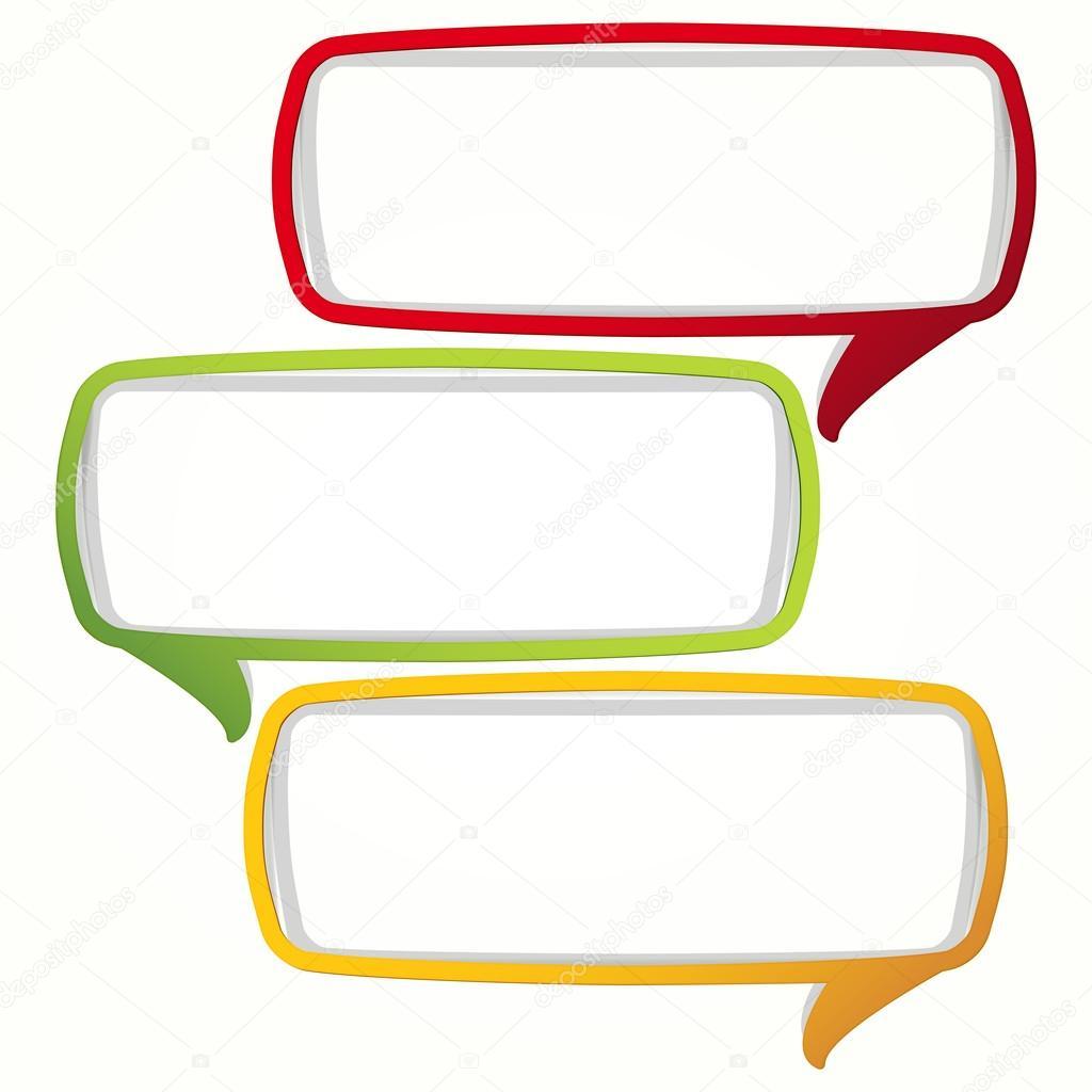 colorful speech bubble frames stock vector olgayakovenko 13271883