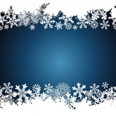 Christmas border, snowflake design background.