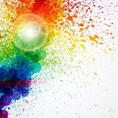 Abstract background forming by watercolor paint splashes. clip art vector