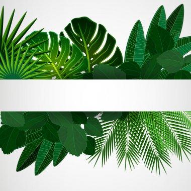 """Картина, постер, плакат, фотообои """"тропические листья. цветочный дизайн фона."""", артикул 45061773"""