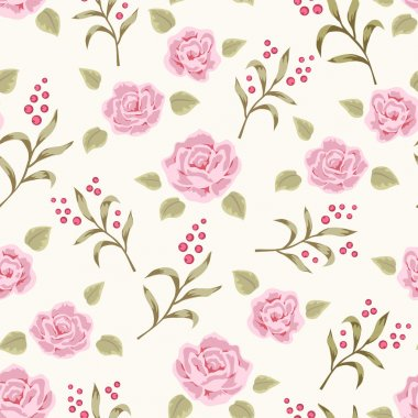 Rose and berry pattern 4