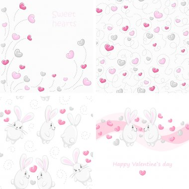 Set Valentine backgrounds