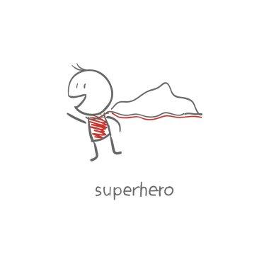 Superhero flying.