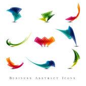 Business-Abstrakt-Symbole-Set