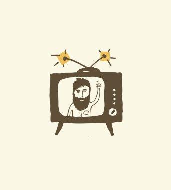 bearded man newscast presenter