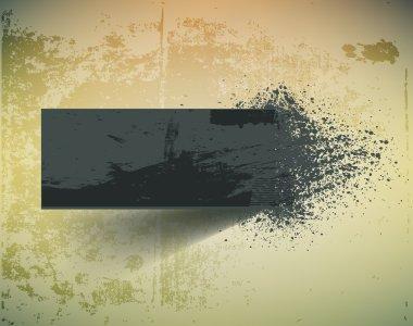 Dark grunge ink splash banner. clip art vector