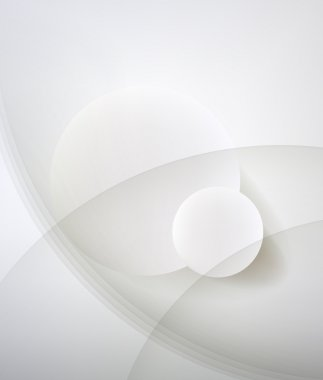 Abstract minimalist design in a light tone. Two circle.