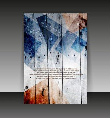 Flyer or cover design. Folder design content background. editabl