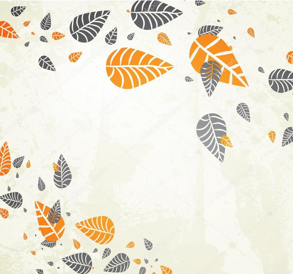 Hojas de fondo oto o oto o cayendo para su dise o vector - Descargar autumn leaves ...