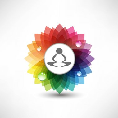 Yoga. Illustration meditation clip art vector