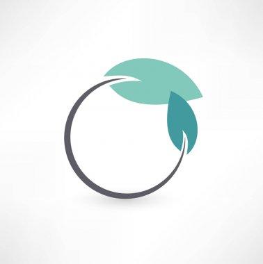 Eco symbols with leaf