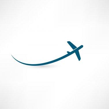 Airplane symbol stock vector