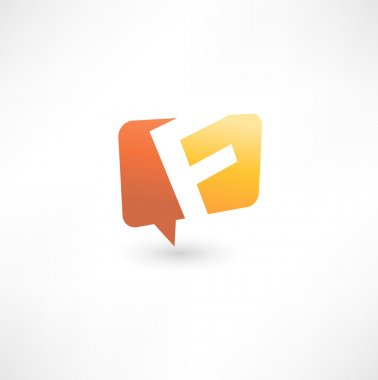 Abstract bubble icon based on the letter F