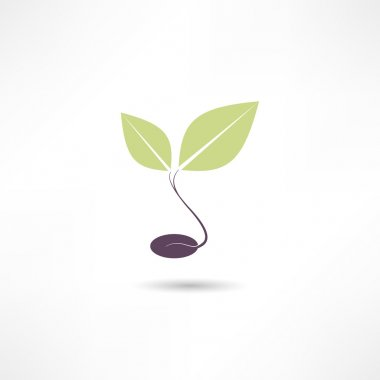 "Картина, постер, плакат, фотообои ""Растения эко значок"", артикул 30378823"