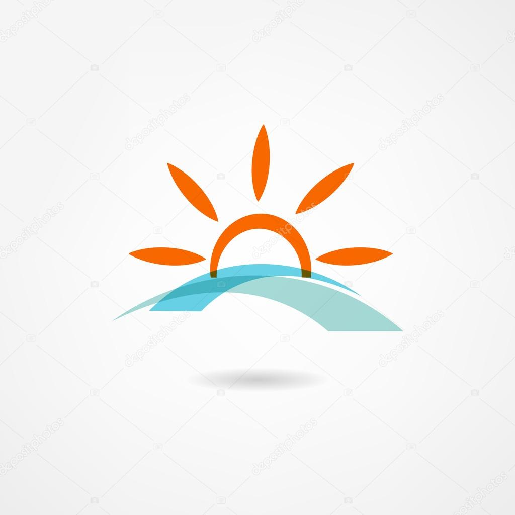 Sun and Sea Icon