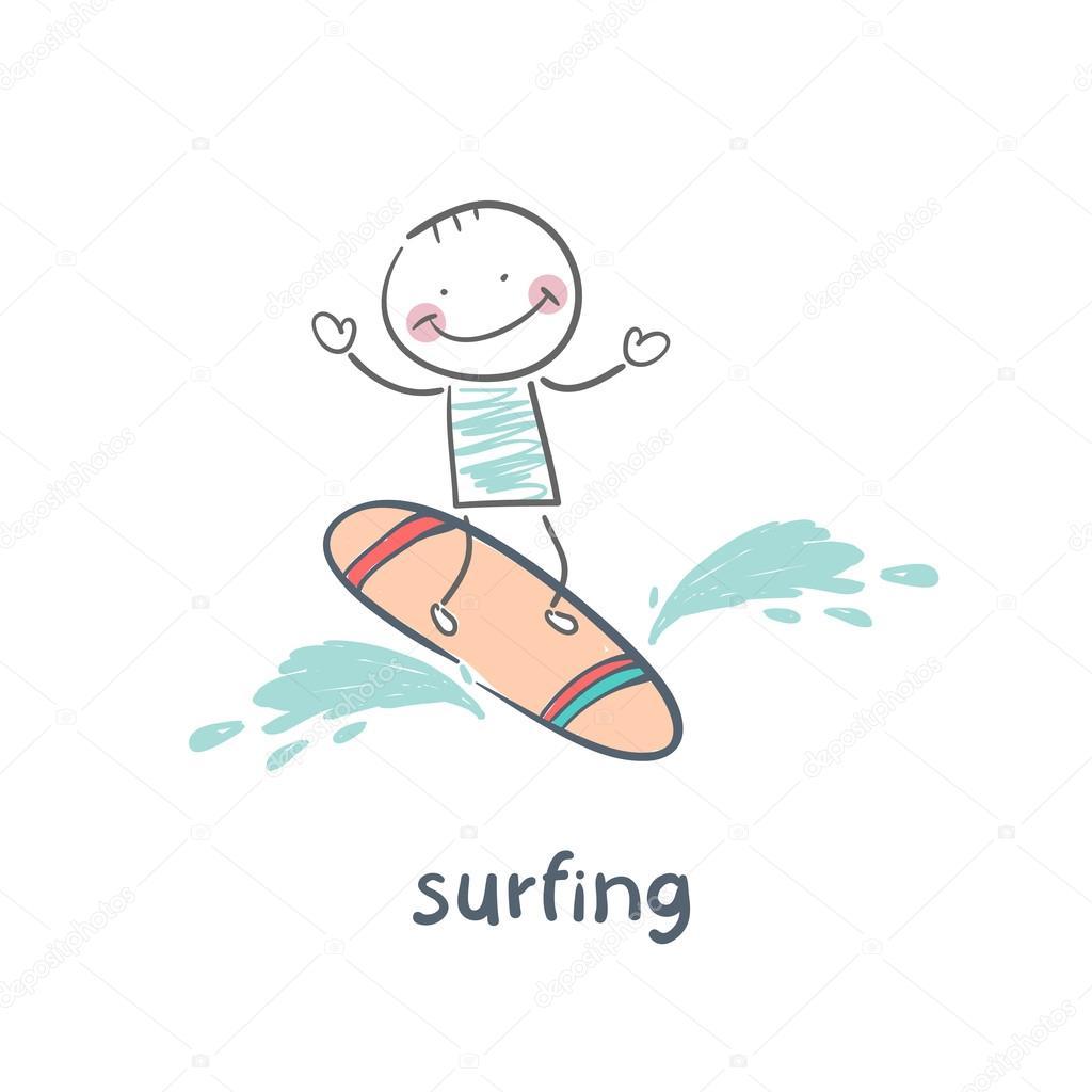 Surfer, surfing