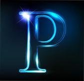 Csillogó betű P