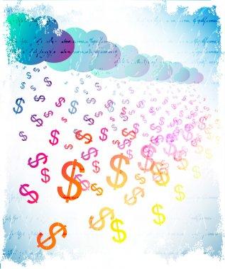Abstract money rain