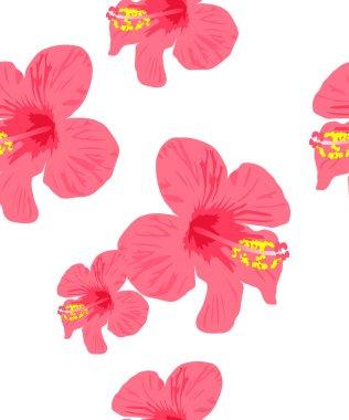 Hibiscus flower seamless Background