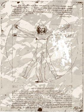 Vitruvian Man silhouette