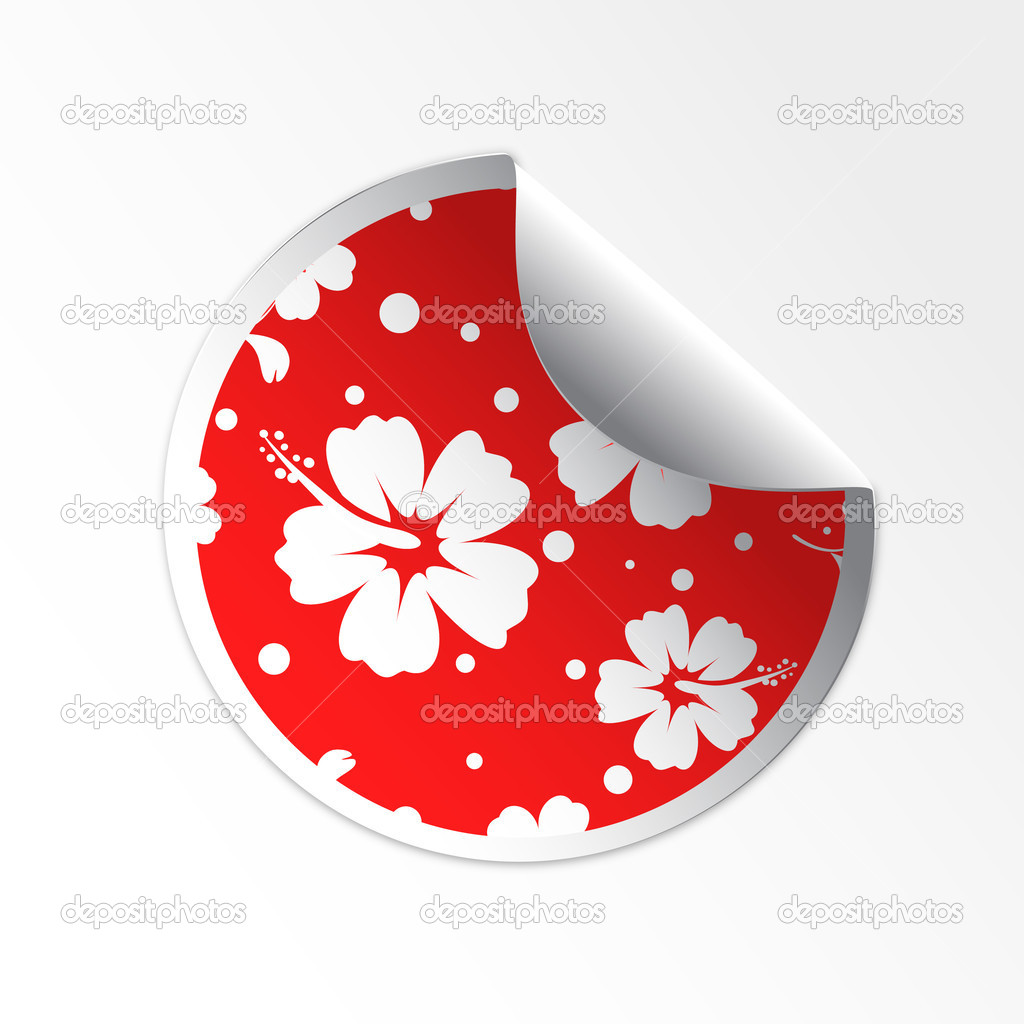 Sale tag stickers hibiscus flower stock vector file404 33048745 sale tag stickers hibiscus flower stock vector izmirmasajfo