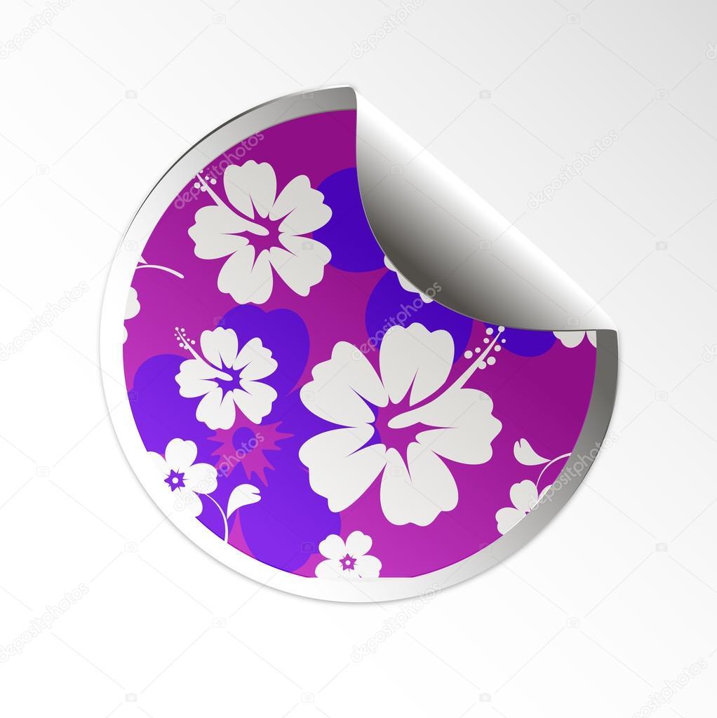 Sale tag stickers hibiscus flower stock vector file404 33065339 sale tag stickers hibiscus flower stock vector izmirmasajfo