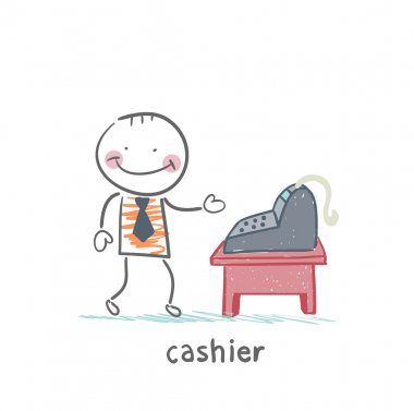 cashier at the workplace