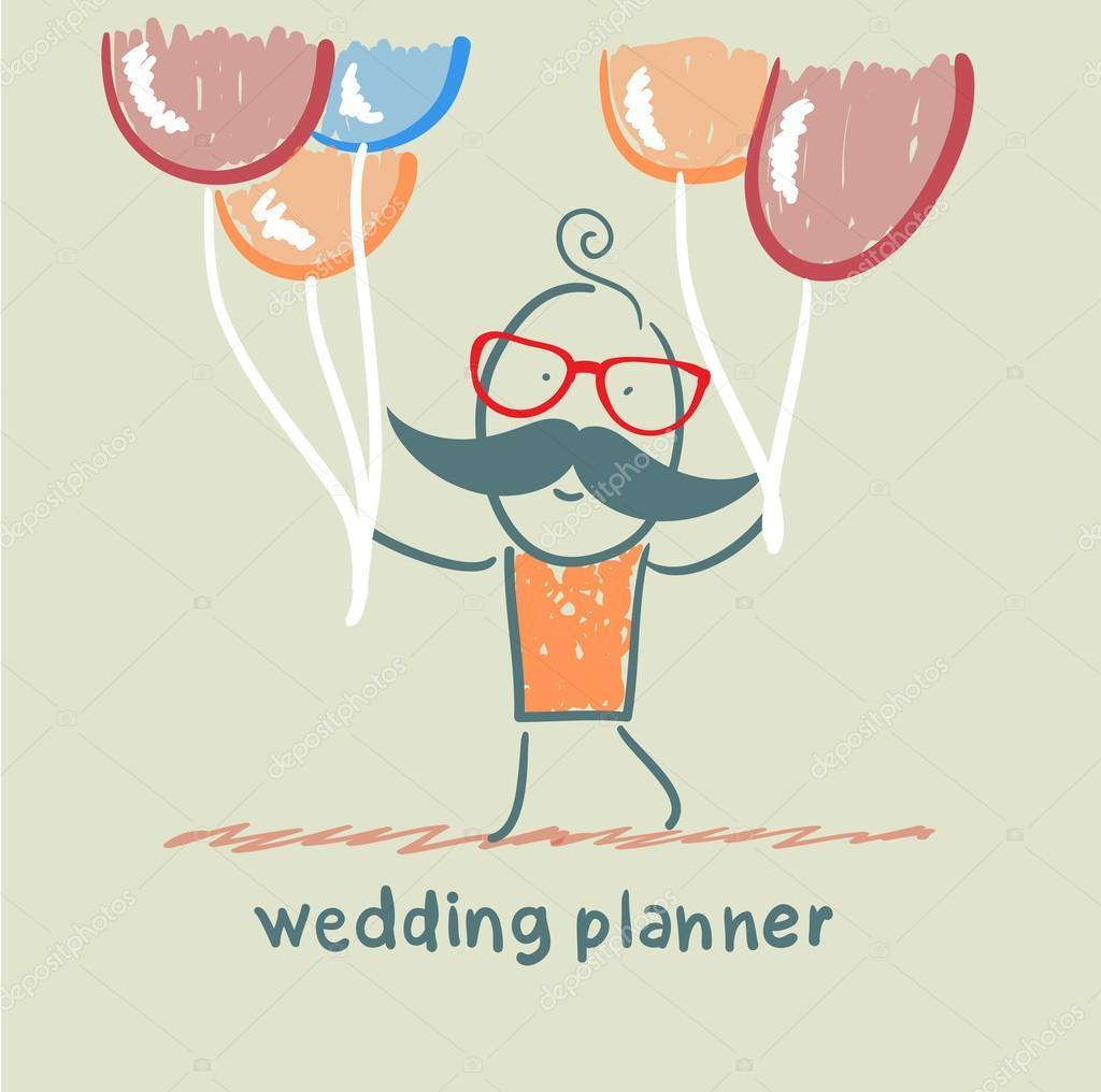 planificador de bodas con globos de helio archivo imágenes