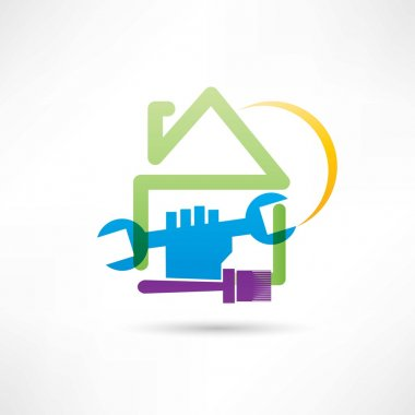 plumbing house painting house icon