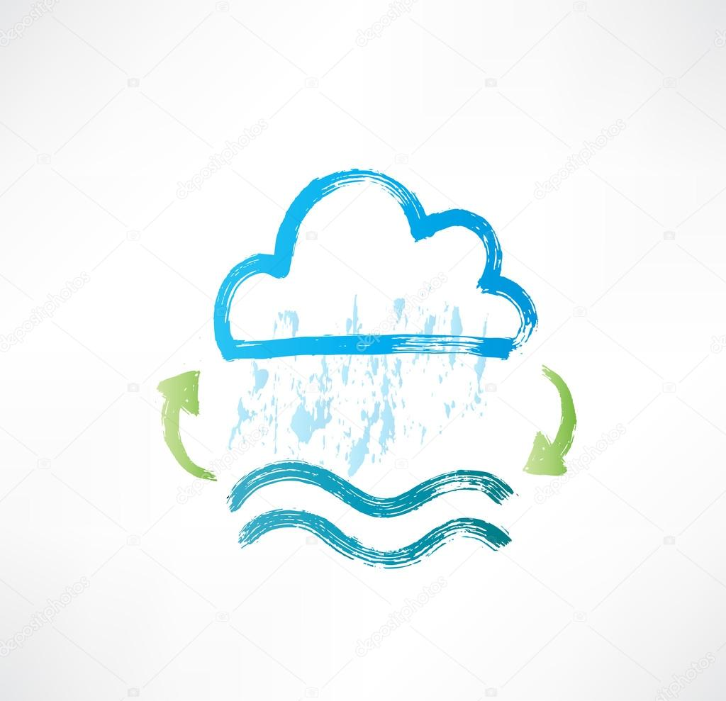 Water cycle icon.