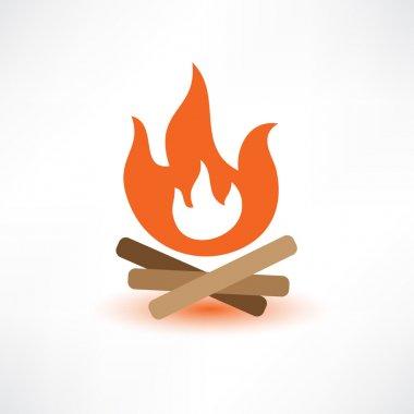 Colored bonfire