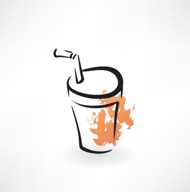 soda paper cup grunge icon