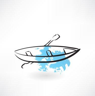 boat grunge icon