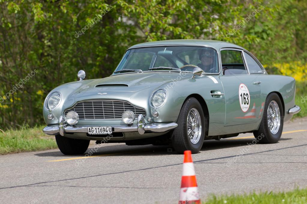 Vintage Race Touring Car Aston Martin DB4 Vantage From 1962 Stock Photo