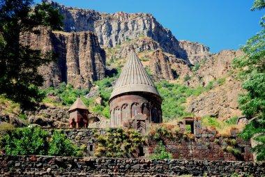 Old UNESCO Monastery of Geghard in Armenia