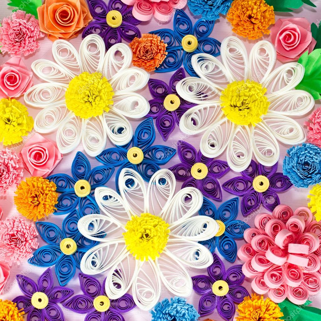 Colorful Paper Quilling Flowers Stock Photo Tiorina 29941679
