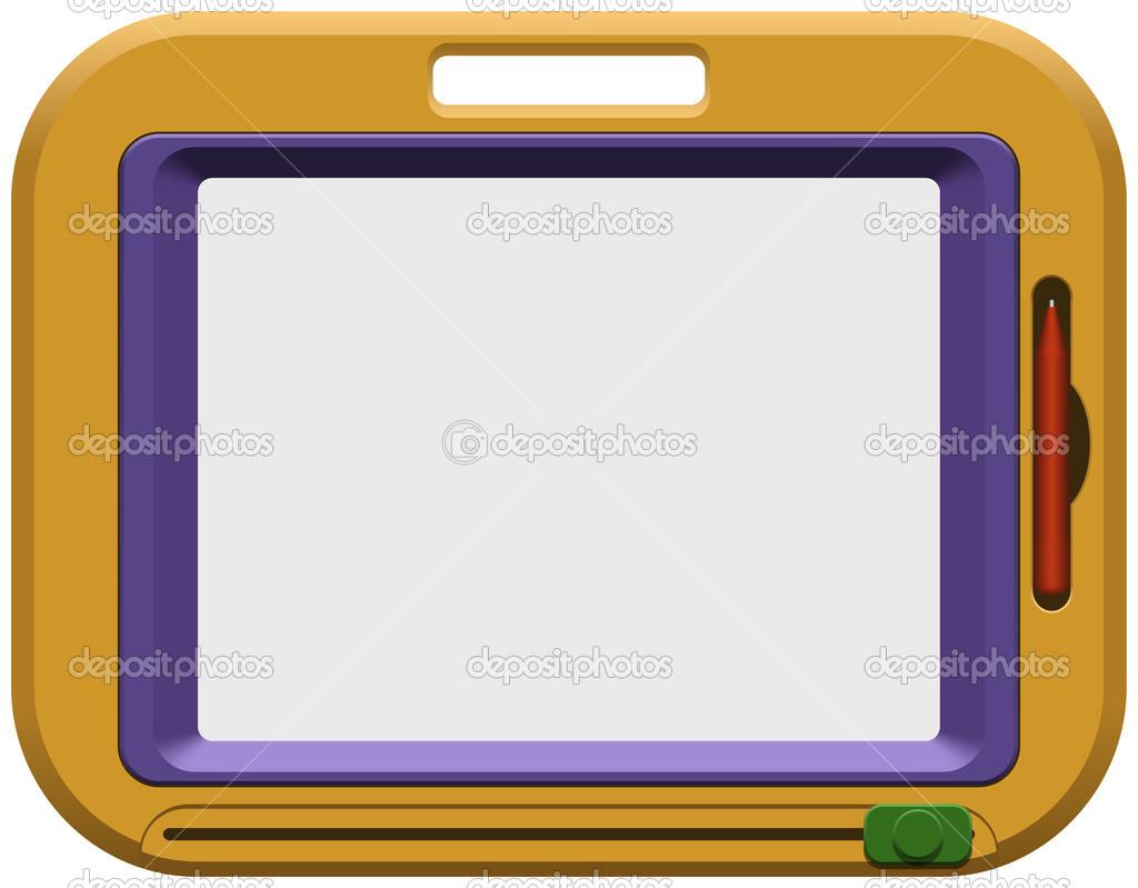 kinder magnettafel für zeichnung — stockvektor © tshooter #13092206
