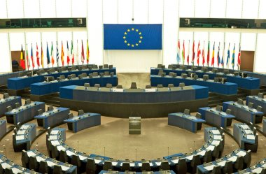 Plenary room of the European Parliament in Strasbourg