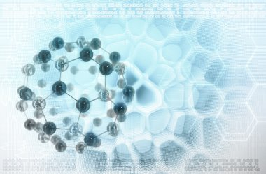Molecules stylized abstract background