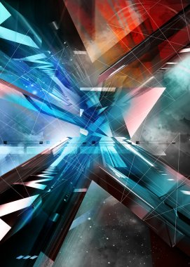 Abstract illustration. virtual background.