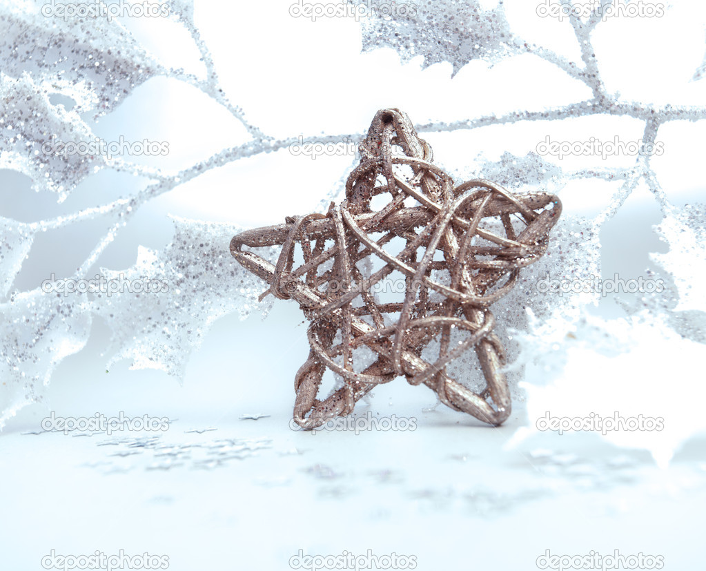 Bright christmas composition with star